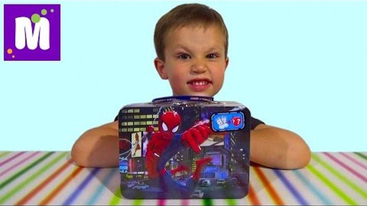 Человек-паук чемоданчик сюрприз распаковка Спайдермен Spider-man surprise box unboxing