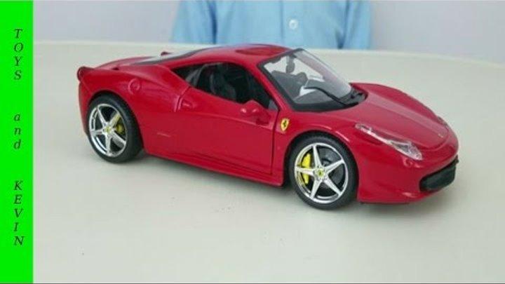 Видео для детей и детские игры. Машинки для детей. Собираем машину Ferrari. Машинки игрушки