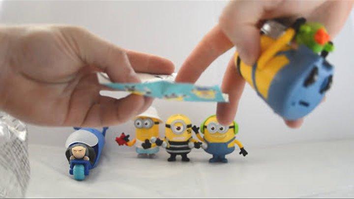 Макдональдс гадкий я 3 - видео распаковка игрушек для детей 2017 Украина.