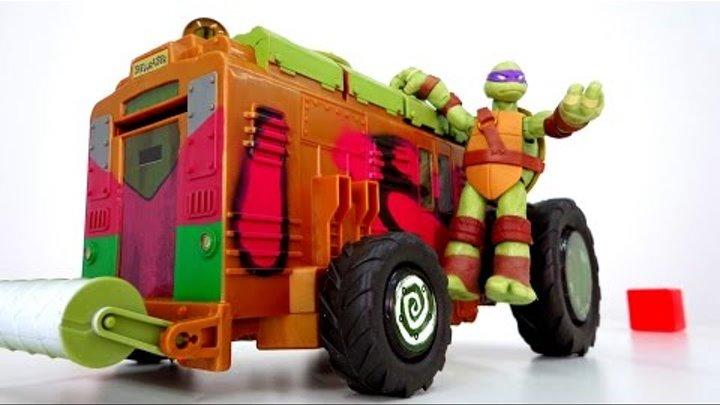 Черепашки ниндзя. Turtles toys. Распаковка. Игры ниндзя. Мультики черепашки и вагон метро