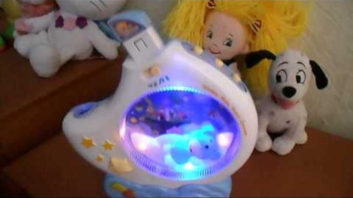 Как работает детский Ночник проектор игрушка, музыка, свет Tongde обзор (kidtoy.in.ua)