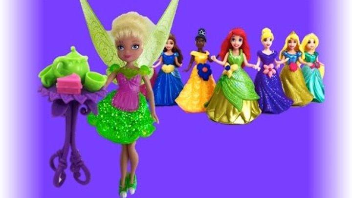 Фея Динь Динь Tinker Bell ее магазин модных платьев и подруги диснеевские принцессы Видео для детей