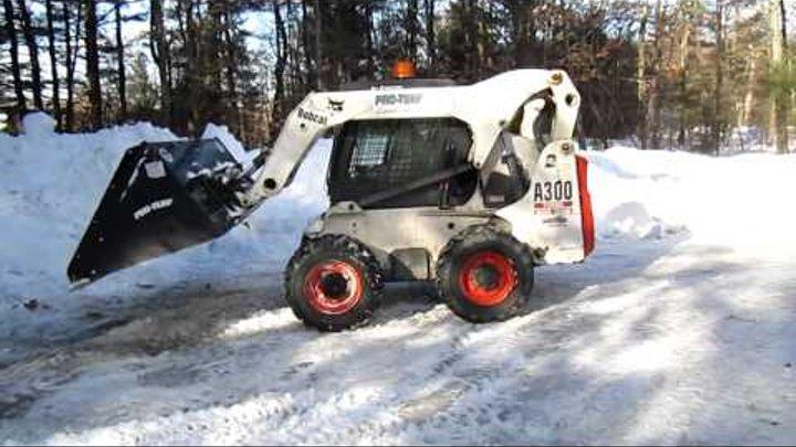 Bobcat Snow Bucket in Action