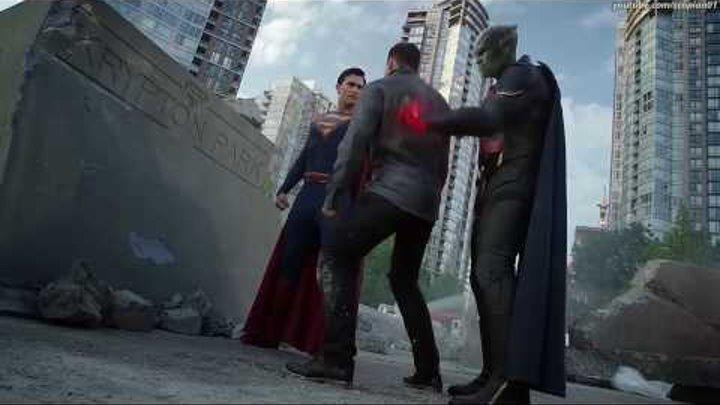 """Супергёрл, Алекс, Марсианский Охотник и Супермен против двух Металло в сериале """"Супергёрл 2 сезон"""""""