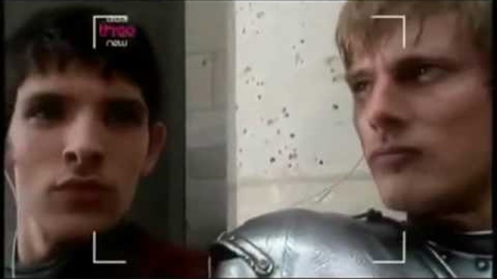Merlin and Arthur singing You're the voice