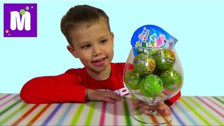 Юху и его друзья Чупа Чупс шары с сюрприз распаковка игрушек Yoo Hoo surprise balls toys