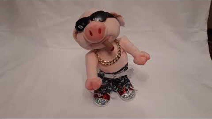 """Поющая и танцующая игрушка """"Свин"""" символ 2019 года"""