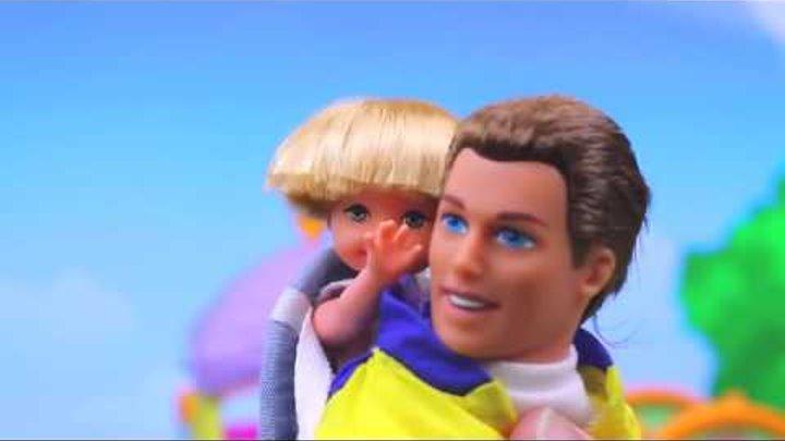 BARBIE ❤ Kids Doll Big Brother Ken & Baby Brother Tommy Frozen Elsa & Kelly Dolls Park