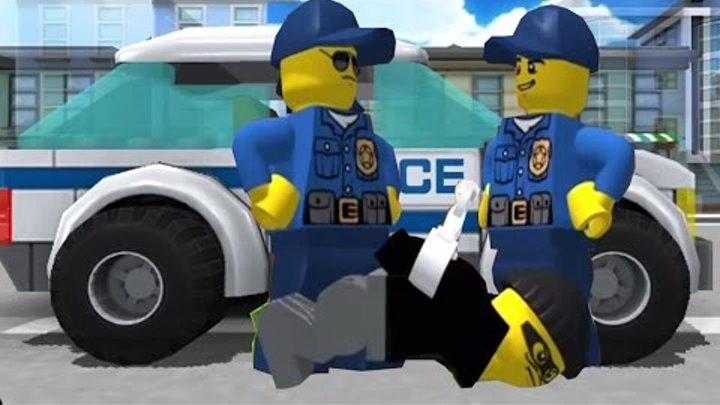 Мультики про машинки Лего мультики на русском Полицейская погоня за бандитами
