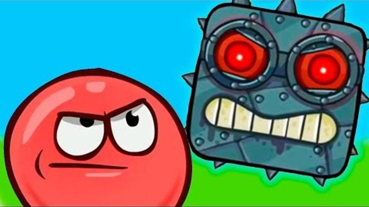 RED BALL 4 КРАСНЫЙ ШАРИК против ЗЛОГО черного КВАДРАТА игровой мультик видео для детей #Малышерин