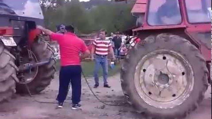 Zetor 7745 vs LTZ 55AF Traktorijada Mirkovac 2016