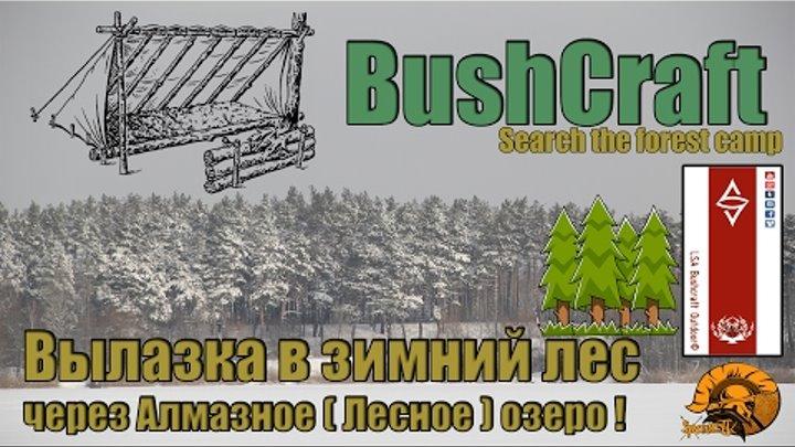 Лесные гамбургеры, Вылазка в лес через Алмазное (Лесное) озеро! Bushcraft Search the forest camp
