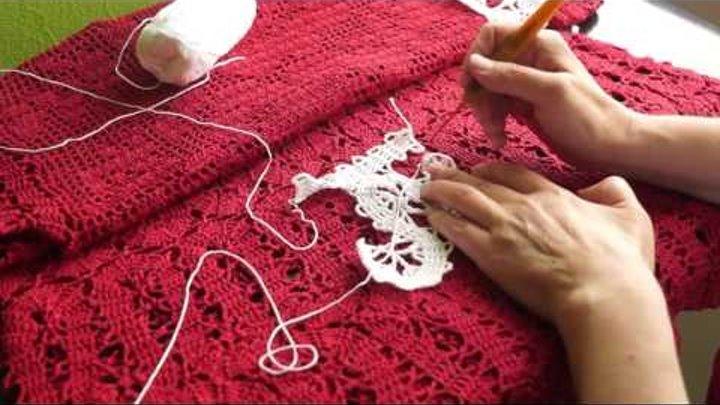 Вязание кружева в технике брюгге часть 4