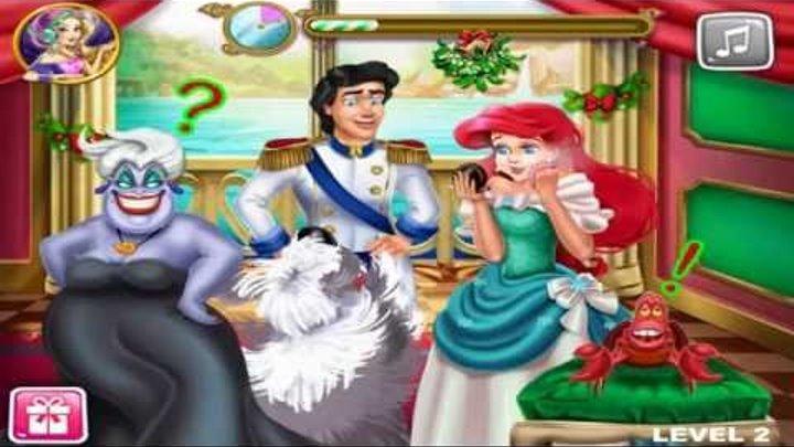 NEW мультики для девочек про принцесс—Запретный поцелуй русалочки—Игры для детей/Mermaid Princess