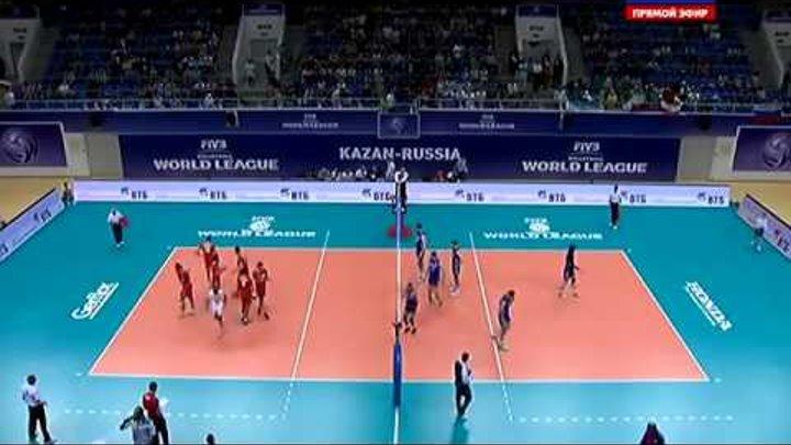 Волейбол Россия - Иран 14.06.2015 Мировая лига Russia Iran FIVB Volleyball World League