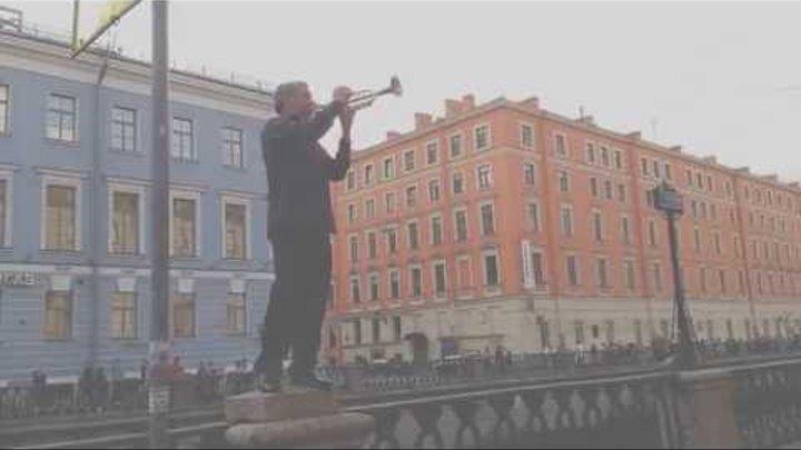 Гимн Украины в центре Питера) 22.05.2016