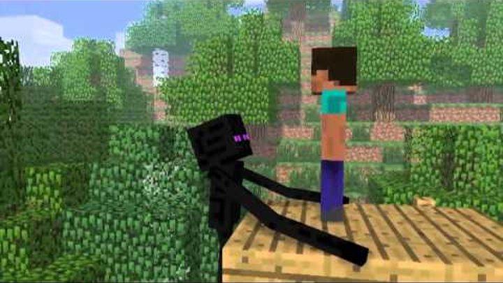 Minecraft Мультики - Школа монстров: Прыжки в воду и Верховая езда (Майнкрафт анимация)