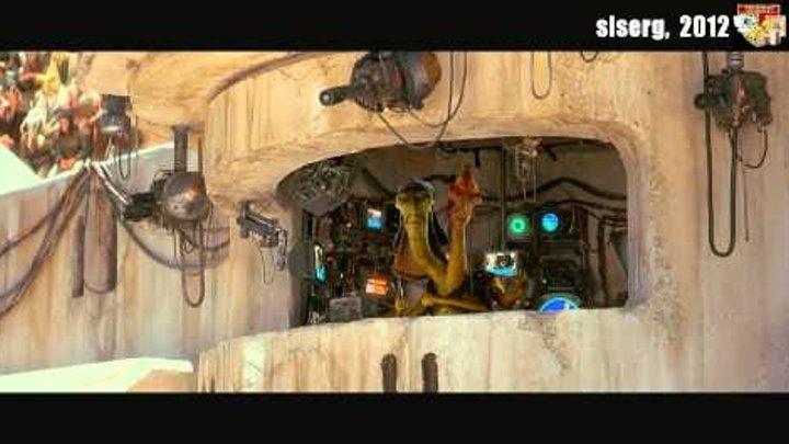 """Эпизод фильма """"Звездные войны -1. Скрытая угроза"""" и песня группы """"Ноль"""" - """"Ты тормоз. Я гонщик""""."""