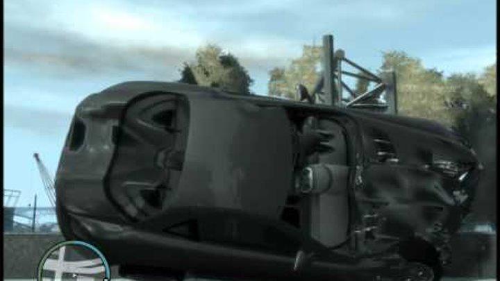 Краш-тест 4 автомобилей в GTA 4