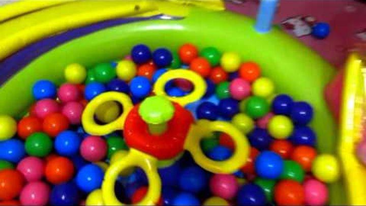 Сухой бассейн с шариками для детей Рулетка игрушки Боб Строитель Базз Лайтер распаковка