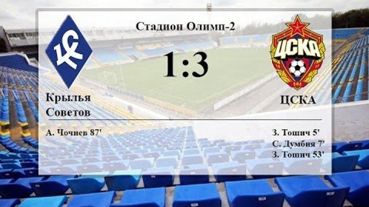 Крылья Советов 1:3 ЦСКА - голы HD