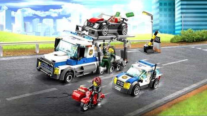 лего сити полиция 60143 ограбление грузовика lego city police auto transport heist speed build