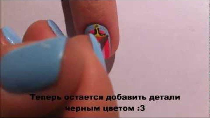 Adventure Time nails/Маникюр Время Приключений :3
