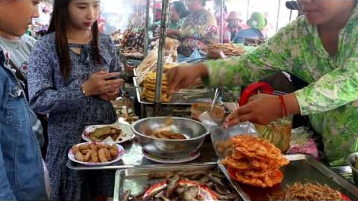Asian Street Food, Street Food Tour At Oudong Part 3, Popular Country Foods
