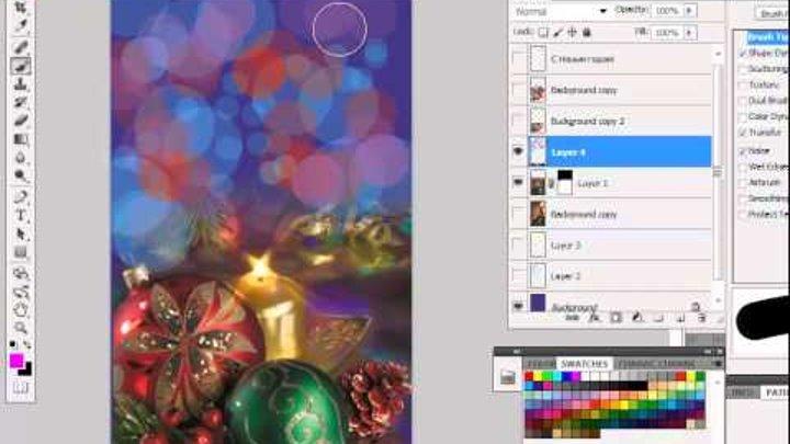 Как создать открытку в фотошопе онлайн на русском языке, картинки девочек
