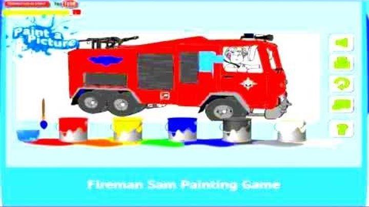 Пожарный Сэм Раскраска Fireman Sam Пожарный Сэм все серии подряд игр мультфильма Fireman Sam