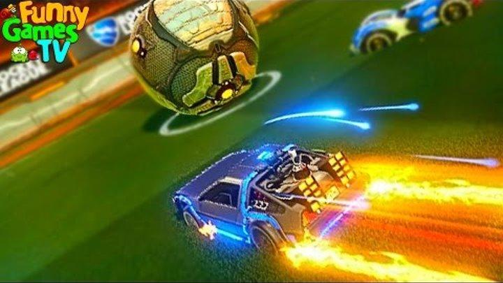 Мультик про машинки для детей Играем в футбол крутое видео для детей битва тачек игра Rocket League