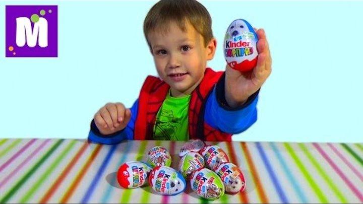 Животные Киндер сюрприз распаковка игрушек Animal Planet Kinder Surprise toys