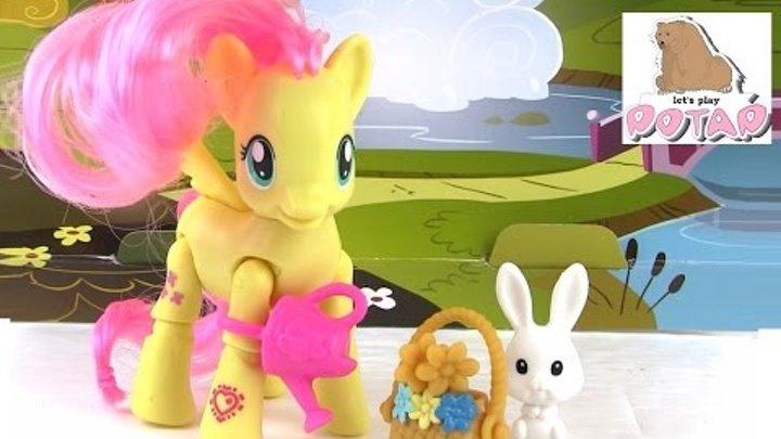 Май Литл Пони Игрушки Флаттершай Собирает Цветочки. Обзор. Распаковка. Игры для Девочек