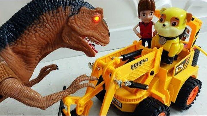 Щенячий Патруль новые серии ЧЕЛЛЕНДЖ Динозавры Развивающие Мультики для детей Игрушки Герои в Масках