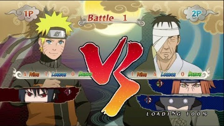 Naruto SUN Storm Generations - PS3 / X360 - 'New Hokage's group' VS 'Best friends'