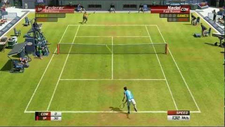 Virtua Tennis 3: Singles Match: Roger Federer VS Rafael Nadal - PS3 Gameplay | Daxter296Plays