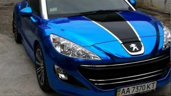 Peugeot RCZ - Blue Chrome Car Wrap