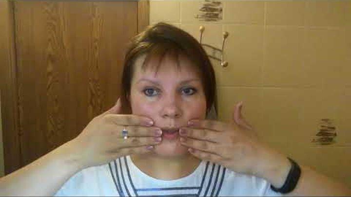 Решейпинг лица. День 19й: убираем маску скорби и морщины -марионетки.