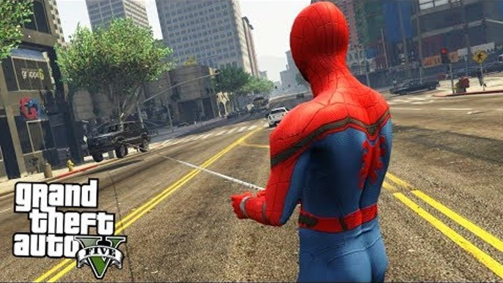 GTA 5 МОДЫ: ЧЕЛОВЕК ПАУК - Spiderman