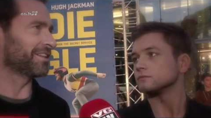 Taron Egerton's choke me daddy eyes (Feat. Hugh Jackman)
