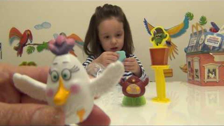 Angry Birds Хэппи Мил Теренс и Матильда против свинов