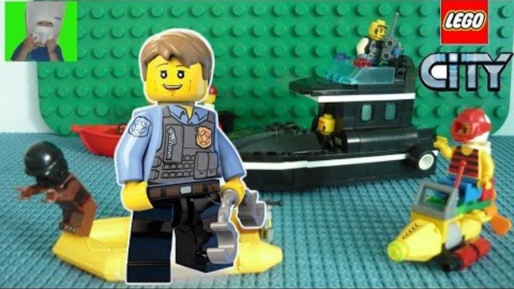 ✈ #LEGO мультик #3 Полицейский катер и преступники   #лего сити полиция   Ваня Супер Гонщик