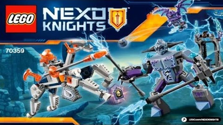 LEGO Nexo Knights 2017 LANCE VS. LIGHTNING 70359 Лего Рыцари Нексо ЛАНС ПРОТИВ МОНСТРА - МОЛНИИ