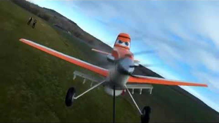 Dusty Crophopper (Disney Planes) - inboard front view - RC Flying model