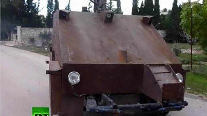 Video: Syria rebels unveil cutting-edge homemade tank
