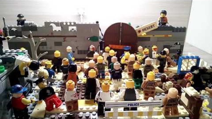 Лего самоделка#10 на тему#Зомби Апокалипсис (База выживших)