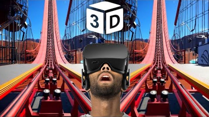 VR 3D Roller Coaster VR Videos 3D SBS [Google Cardboard VR Box 360] Virtual Reality Videos 3D SBS
