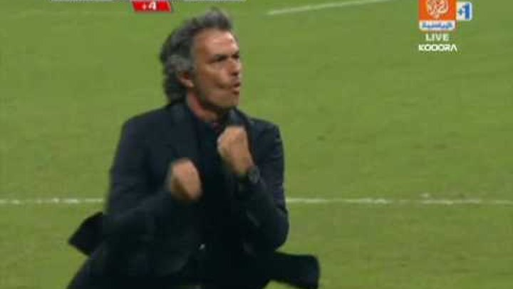 "Jose Mourinho funny celebration:""oh yeah"" (Inter Milan vs Udinese)"