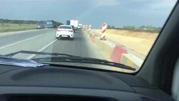 Страшное ДТП с участием 4-х машин, на трассе Симферополь - Феодосия 07.08.18!!!