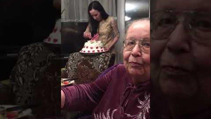 Вот так поздравляют любимую маму и бабушку с 80-летием!